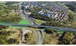 Švédsko: Diaľničný obchvat Štokholmu, diaľničný most Hjulsta