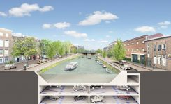 Holandsko: Amsterdam, výstavba podzemných garáží